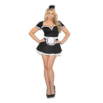 Womens Plus Size Maid To Please Sexy French Maid Halloween Roleplay Costume