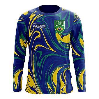 2018-2019 Brazil Long Sleeve Away Concept Football Shirt (Kids)