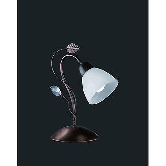 Trio Lighting Traditio Authentic Antique Rust Metal Table Lamp