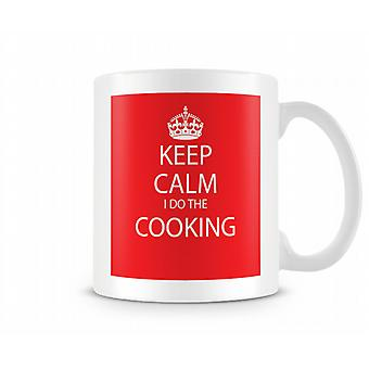 Keep Calm I Do Cooking Printed Mug