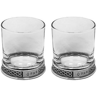 Celtic Pewter Whisky Glass Tumbler - Set of 2