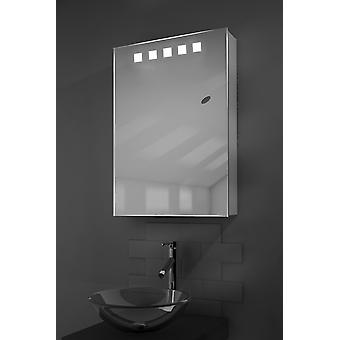 Deva LED Illuminated Bathroom Mirror Cabinet With Sensor & Shaver k259