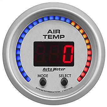AutoMeter 4358 Ultra-Lite Digital Air Temperature Gauge 2-1/16 in. Dual 0 - 300 Deg. F Incl. 1/8 in. NPT Sender 3/8/0.5