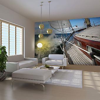 Wallpaper - A boat in the sea