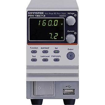 GW Instek PSW160-7.2 Bench PSU (adjustable voltage) 0 - 16 Vdc 0 - 7.2 A 360 W No. of outputs 1 x