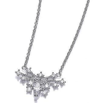 Cavendish French Deco Style Butterfly Necklace - Silver