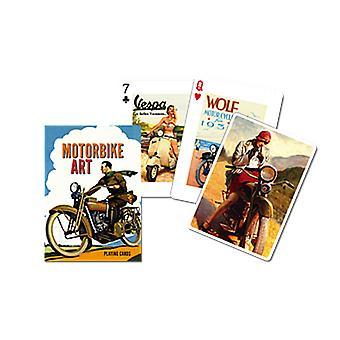 Motorcykel kunst sæt spillekort