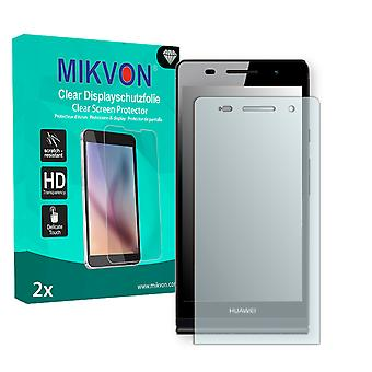 Huawei Ascend P6 Screen Protector - Mikvon Clear (Retail Package with accessories)