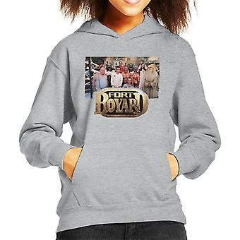 Retro Fort Boyard Cast Kid's Hooded Sweatshirt
