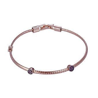 Orphelia 925 sølv Rose armbånd med Ruby sten 16,5 CM ZA-7415/RG