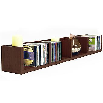 Virgo - 84 Cd / 56 Dvd / Blu-ray / Video Media Wall Storage Shelf - Dark Oak
