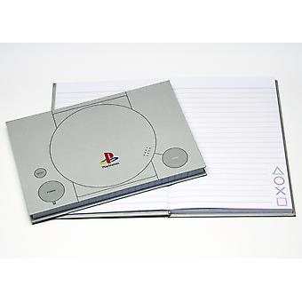 Sony PlayStation grey notebook, hardcover, lined, A5, 200 pages.