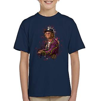 TV Times Elton John At The Piano Kid's T-Shirt