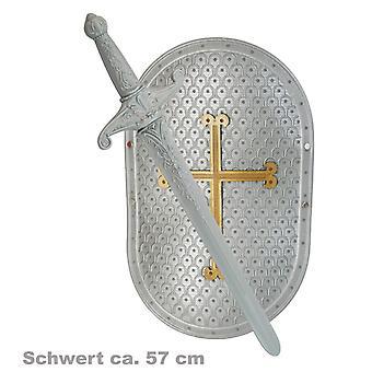Knight set 2-PCs. 57cm Sword Shield medieval castle accessory