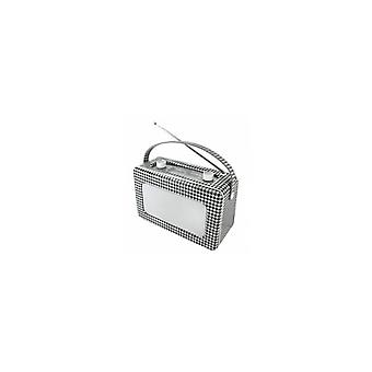 Lyd master TR85PP Retro Radio tre med skinn Pepita
