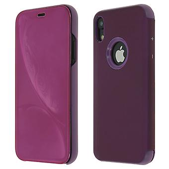 Flip Case, Mirror Case for Apple iPhone XR, Standing Cover - Purple
