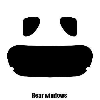 Pre cut window tint - Toyota iQ 3-door Hatchback - 2008 to 2015 - Rear windows