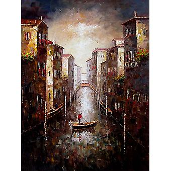 Venice hand painted oil painting on canvas, 90x120 cm