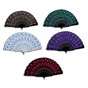 Subjects of Spain Segnorita wind wavy air fan lace fan