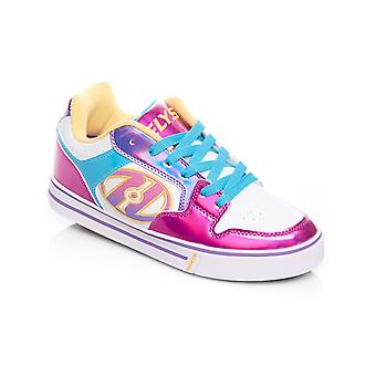 Heelys White-Fuschia-Multi Motion Plus Girls One Wheel Shoe