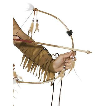 Piume indiana arco e freccia insieme.