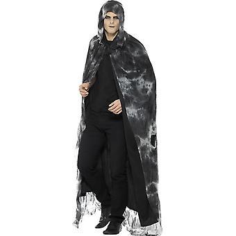 Deluxe Spellbound Cape decaduta, nero & grigio, Tie Dye, Unisex
