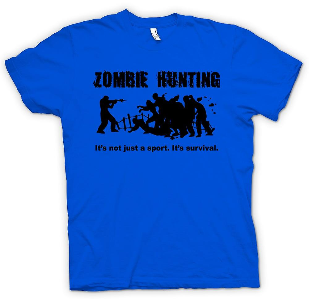 Mens T-shirt - Zombie Hunting Sport - Comedy Horror