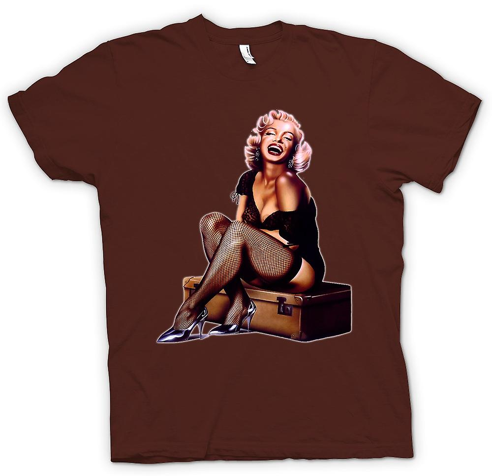 Hommes T-shirt - Marilyn Monroe - Vintage - Pin-Up