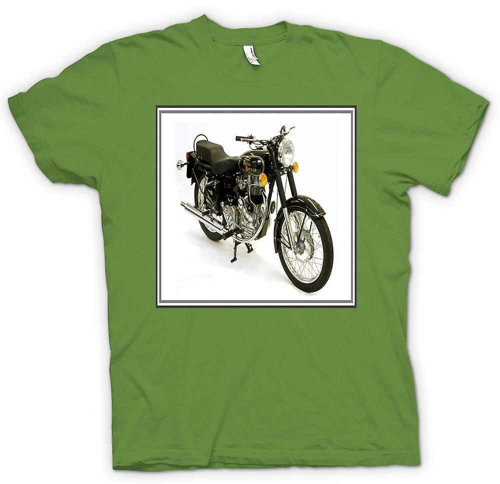 Mens t-shirt - Royal Enfield Bullet - moto d'epoca