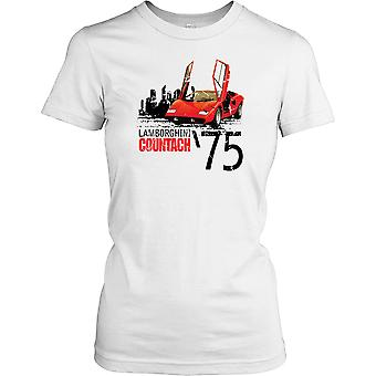 Lamborghini Countach - 1975 - Classic Italian Super Car Ladies T Shirt