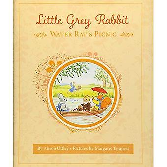 Kleine grijze konijn: de waterrat picknick