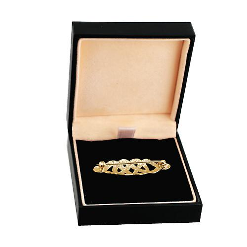 9ct Gold 12x40mm Celtic knot  brooch
