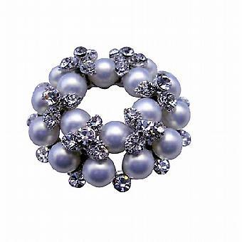 Vintage perler brosje Pin med Cubic zirkon Bud brosje