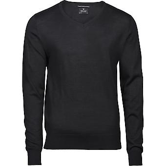 Tee Jays Mens Merino Blend V Neck Jumper