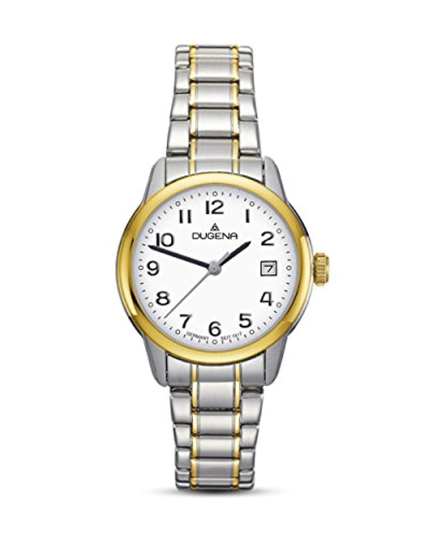 Dugena montre analogique quartz femme avec bracelet en acier inoxydable 4460717