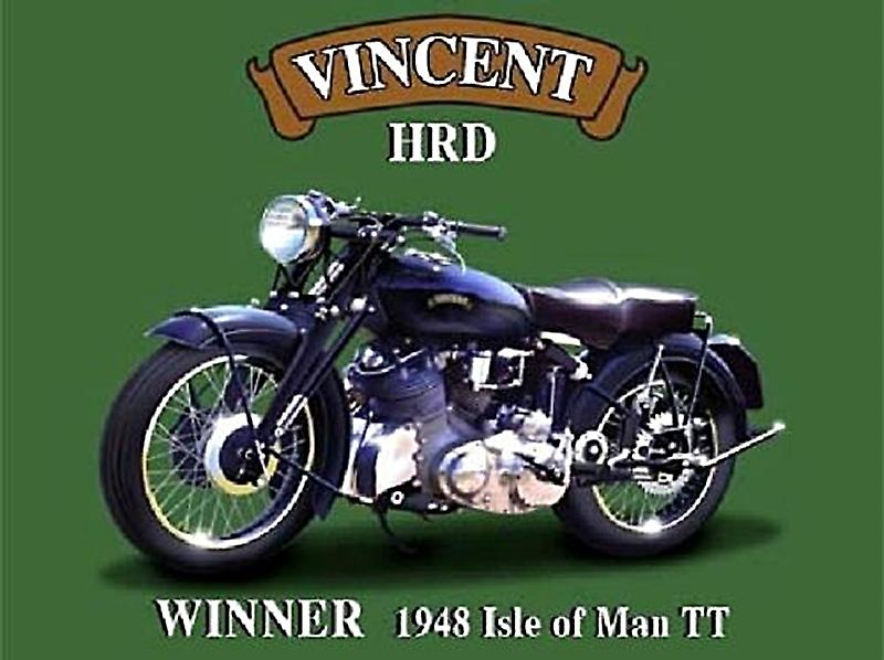 Vincent HRD metal sign   (og 2015)