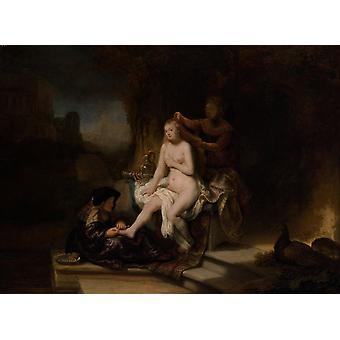 Bathsheba Bathing, Rembrandt, 50x37cm