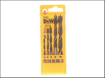 DEWALT Brad Point Drill Bit Set of 5 - 4, 5, 6, 8 & 10mm
