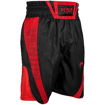 Shorts Venum Mens Elite troncs cordon Polyester de boxe - noir/rouge