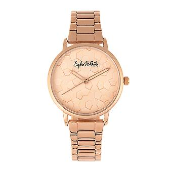 Sophie & Freda Breckenridge Bracelet Watch - Rose Gold