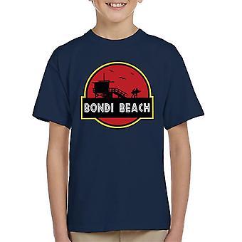 Bondi Beach Jurassic Park Logo Kid's T-Shirt
