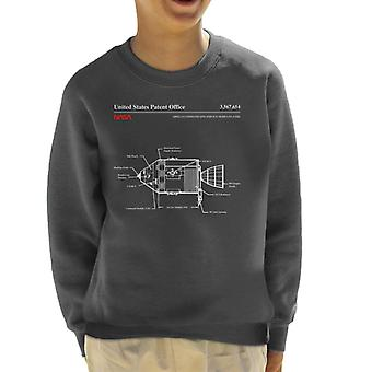 NASA Apollo Befehl Service Module Blueprint Kinder Sweatshirt