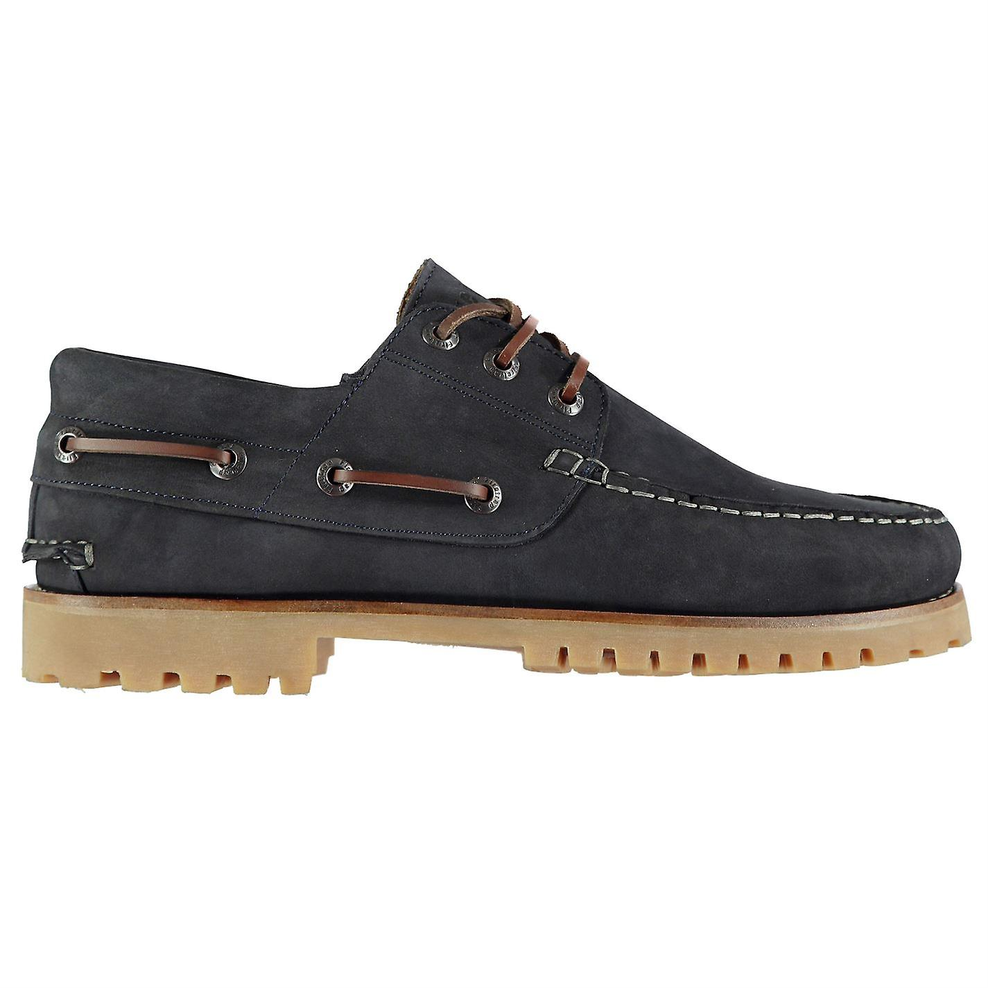 Firetrap Mens Jose Boat chaussures Lace Up Gripped Sole Fashion Stitched Detailing