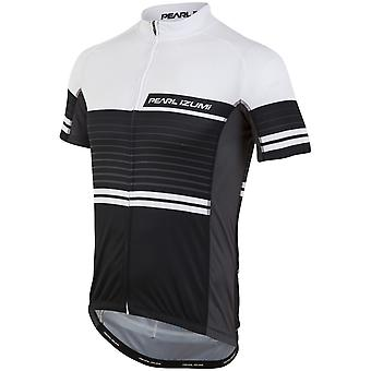Pearl Izumi Black-White Lines Elite Escape LTD Short Sleeved Cycling Jersey