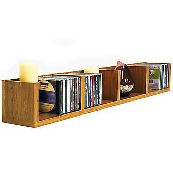 Virgo - 84 Cd / 56 Dvd / Blu-ray / Video Multimedia Wall opslag plank - eiken