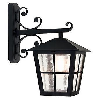 Traditional Outdoor British Style Black Wall Lantern IP23