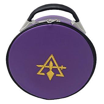 Cryptic Royal & Select Masonic Hat/Cap Case Purple
