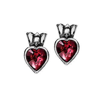 Alchemy Gothic Claddagh Heart Pewter Earrings