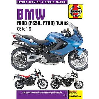 BMW F800 - F700 & F650 Twins Service and Repair Manual - 2006-2016 by