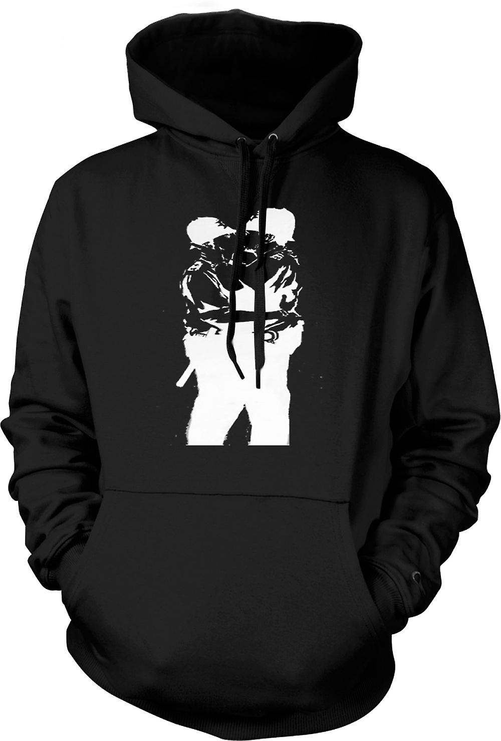 Mens Hoodie - Banksy Graffiti Art - Gay Police